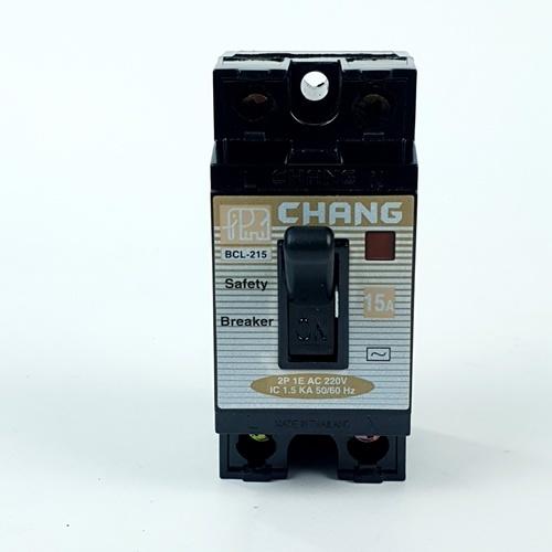 CHANG เบรคเกอร์ 15A BCL 215 มีไฟ-ช้าง - สีดำ