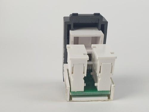 CHANG เต้ารับคอมพิวเตอร์ CAT5E LCH-907C-BK สีดำ(เม็ททัลลิค)-ช้าง LCH-907C-BK Y-Series Metallic สีดำ