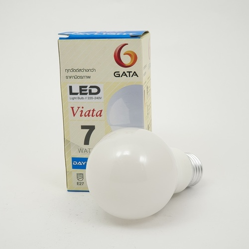 GATA หลอด LED 7W ฝาขุ่น E27 Day - สีขาว