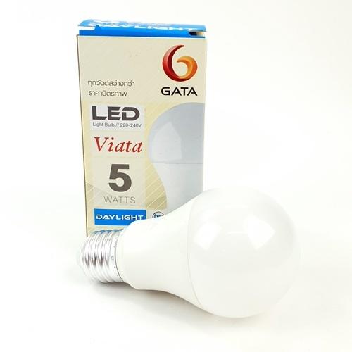 GATA หลอด LED 5 W ฝาขุ่นE 27 Day - สีขาว