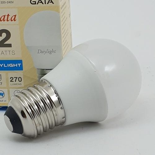 GATA หลอด LED 2 W ฝาขุ่น E27 Day สีขาว