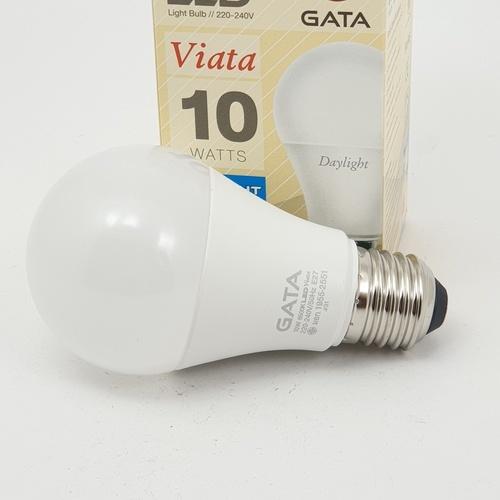 GATA หลอดLED 10 W ฝาขุ่น E 27 Day - สีขาว
