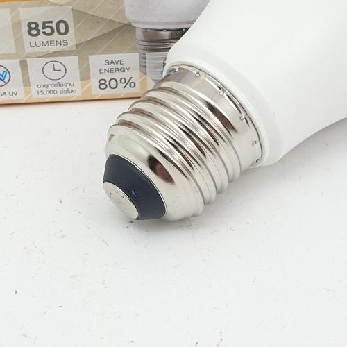 - หลอด LED 10 วัตต์ - ฝาขุ่น E 27 Warm สีเหลือง