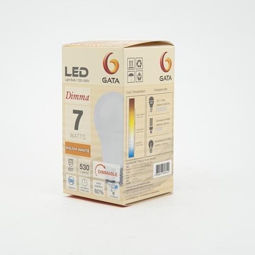 GATA หลอดLED 7W ฝาขุ่น (แบบหรี่แสงได้) 7w Warm Dimmer เหลือง