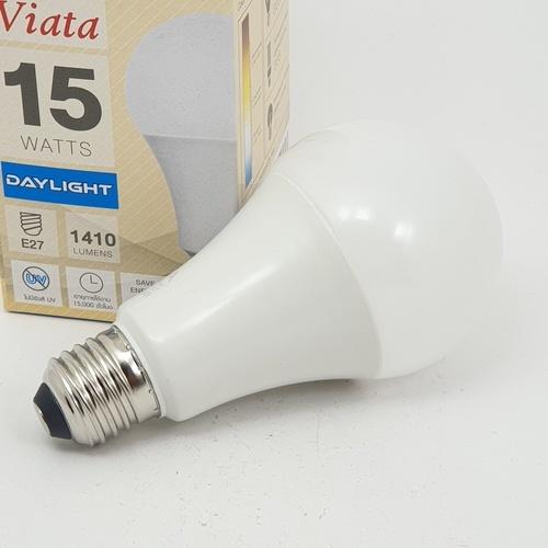 GATA หลอด LED 15W  ฝาขุ่น E27 Day  สีขาว