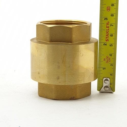 PP เช็ควาล์ว สปริงทองเหลือง  1 1/2 -