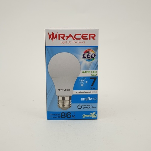 RACER หลอด LED Bulb  A60 7WATT DAYLIGHT ขาว
