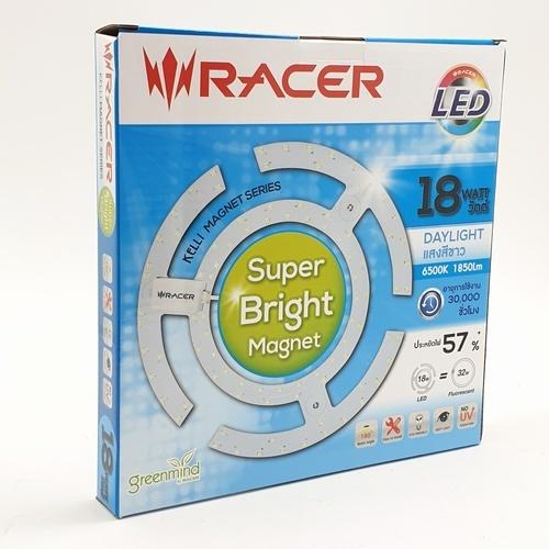 RACER หลอดแอลอีดี Magnet 18W. Super Bright  13101LLCL000041 สีขาว