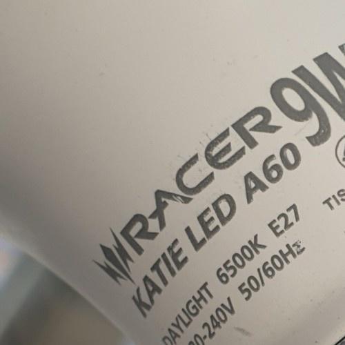 RACER หลอดแอลอีดีบับ 9W เดย์ไลท์ (แพ็ค3 ฟรี1) 13101LEDDB00181 สีขาว
