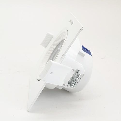 Racer ดาวน์ไลท์แอลอีดีหน้าเหลี่ยม แบบฝัง  ปรับได้ 3.5 5w DL สีขาว