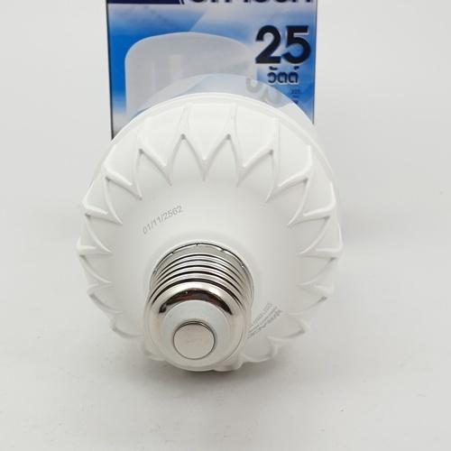 RACER หลอดไฟ แอลอีดี ไฮวัตต์ บิ๊กไบร์ท 25วัตต์ ขั้ว E27 แสงขาว 6500เค LED HIGH WATT BIG BRIGHT 25W E27 (6500K) สีขาว