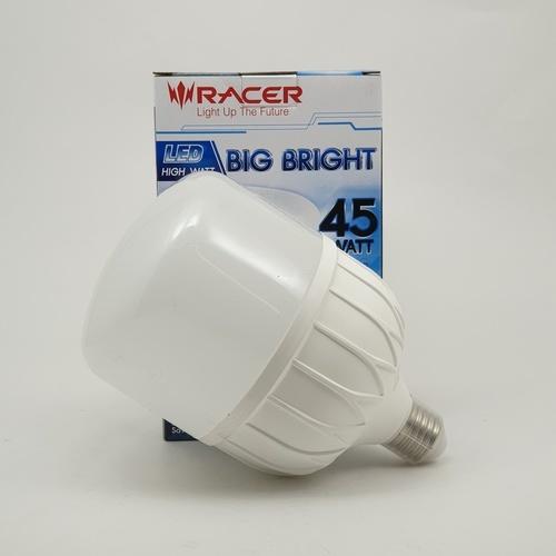 RACER หลอดไฟ แอลอีดี ไฮวัตต์ บิ๊กไบร์ท 45วัตต์  ขั้ว E27 แสงขาว สีขาว