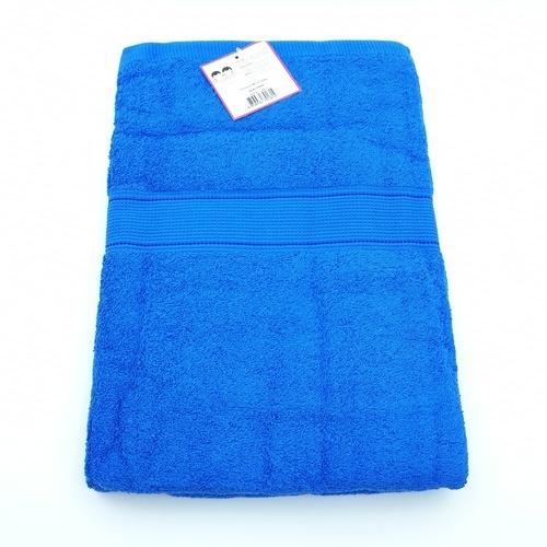 - ผ้าขนหนูขนเดี่ยวทอ Dobby 27 CB017 สีน้ำเงิน
