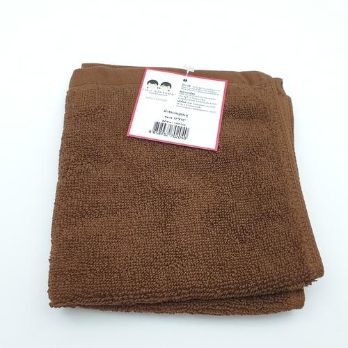 - ผ้าขนหนูขนคู่ 12x12 นิ้ว CBR059 สีน้ำตาล