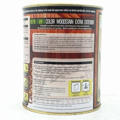 DWD สีย้อมไม้ ชนิดกึ่งเงา  (0.946ลิตร) 979DWD 502EX สีสักทอง