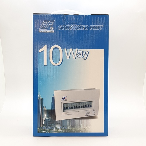 BF ตู้คอนซูเมอร์ 10ช่อง63A PSC 10Way 63A BF ขาว