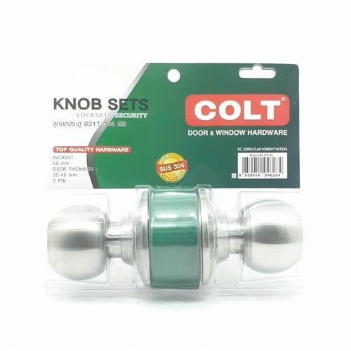 COLT ลูกบิดห้องทั่วไป  8317-304SSฝาเล็ก แผง สีสแตนเลส สีโครเมี่ยม