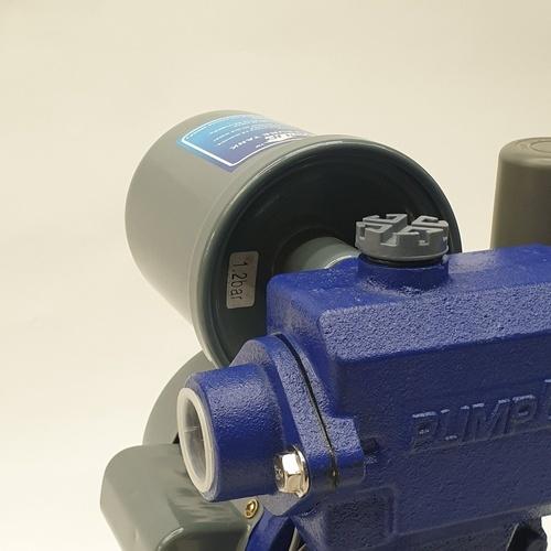PUMP UP ปั๊มน้ำอัตโนมัติถังแรงดันขนาดเล็กมีฝาครอบ 180W AUTO180C สีน้ำเงิน