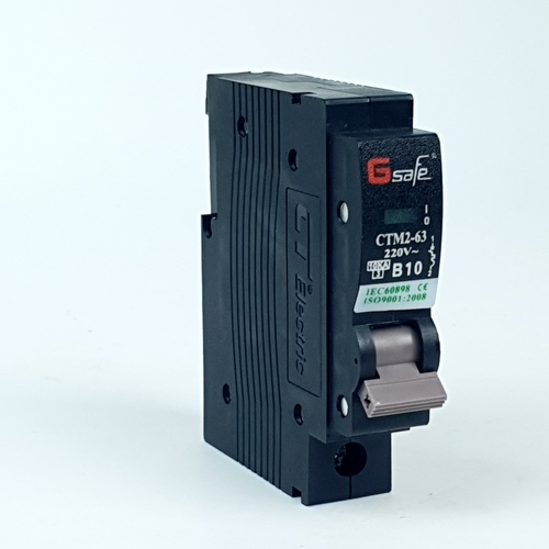 Gsafe CTM2-63c 1P 1P 10A ดำ