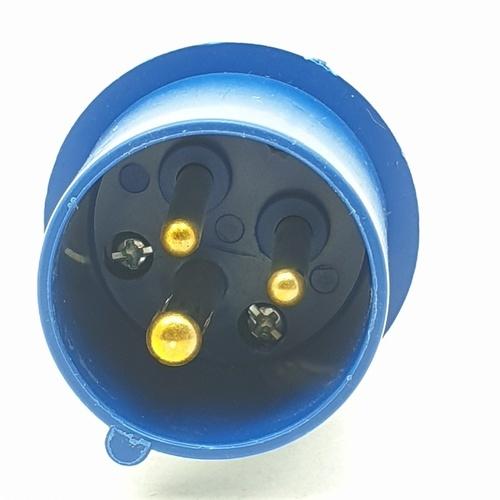 CT ELECTRIC พาวเวอร์ปลั๊ก(ตัวผู้) 2P-E(013)16A 220V ขาว-น้ำเงิน