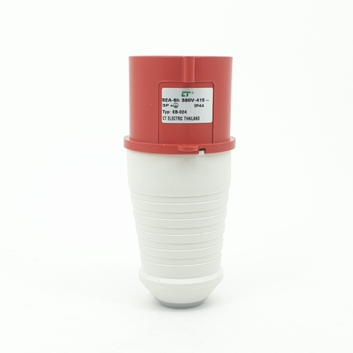 CT ELECTRIC พาวเวอร์ปลั๊ก(ตัวผู้) 3P-E(024)32A 380V ขาว-แดง