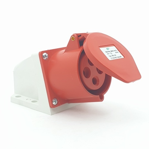 CT ELECTRIC พาวเวอร์ปลั๊ก  ติดลอย(เบ้าปลั๊ก) 3P-E(124)32A 380V ขาว-แดง