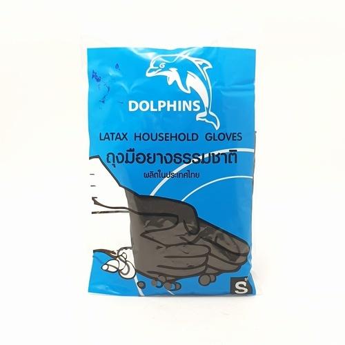 ปลาโลมา ถุงมือยาง ( S ) 0093 สีดำ