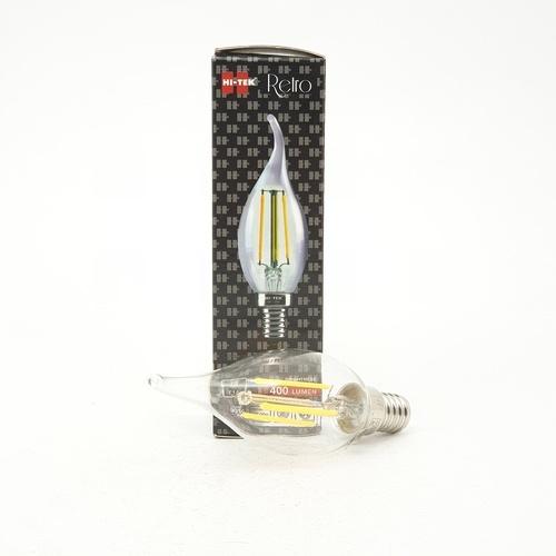 HI-TEK หลอดเปลวเทียน LED RETRO 4W แสงนวล HLLC51404W