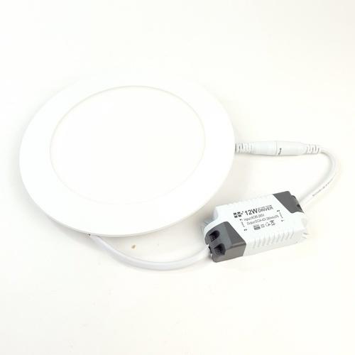 HI-TEK โคมพาแนล LED ทรงกลม แบบฝัง 12 วัตต์ แสงนวล  HFLEPR012W