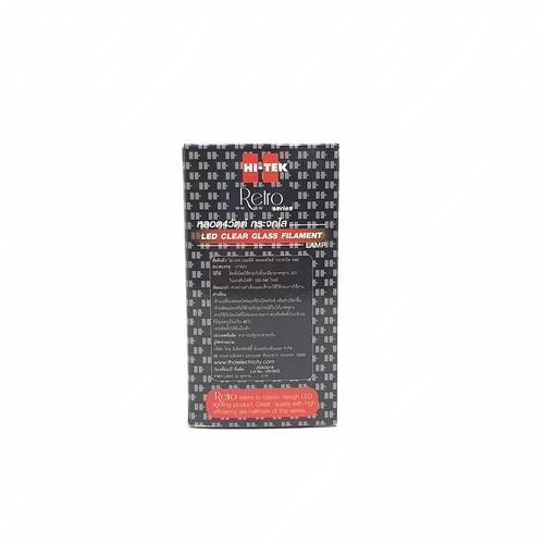 HI-TEK หลอดแอลอีดีฟิลาเมนท์4วัตต์กระจกใส ขั้วเกลียว แสงนวล HLLA60004C