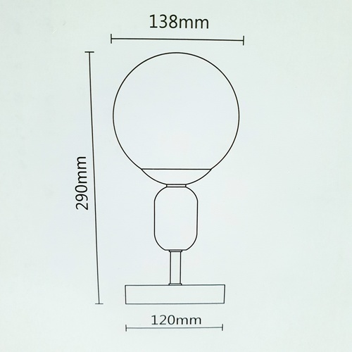 ELON โคมไฟตั้งโต๊ะ Modern  MT60356F-1A **แถมฟรี8859548100145 หลอดแอลอีดีบัลบ์ Premier 3W 6500K เดย์ไลท์ ELON**