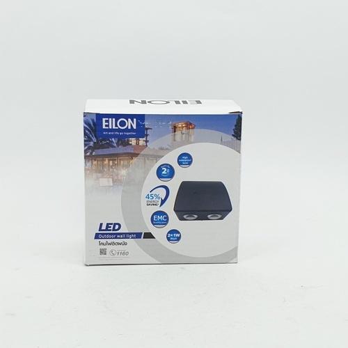 EILON โคมไฟผนังโมเดิร์น กันน้ำ IP65 1W*2  SZ-2418 สีดำ