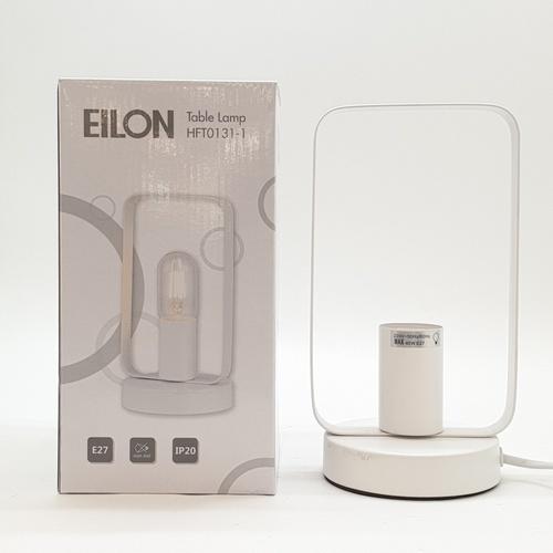 EILON โคมไฟตั้งโต๊ะวินเทจ 40 W  HFT0131-1 ขั้ว E27 สีขาว
