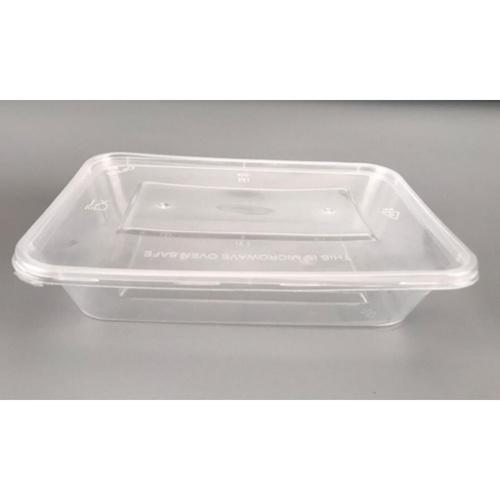 Nibiru กล่องอาหารพร้อมฝาพลาสติก PP 500ml.  (15ชิ้น/Pack) Ki-Re-I