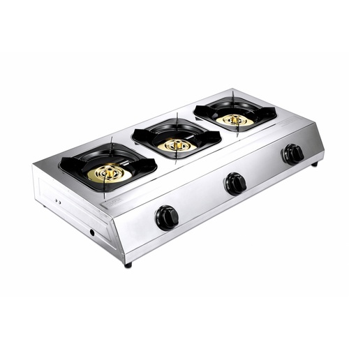 Koch Kitchen  เตาแก๊สแบบตั้งพื้นหน้าสแตนเลส 3หัวเตา Darnell CG-02 สีขาว