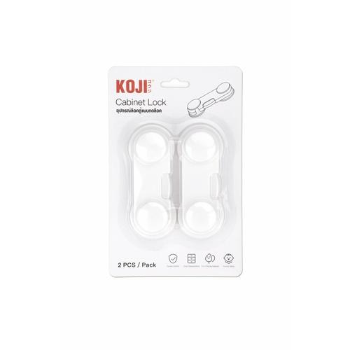 KOJI อุปกรณ์ล็อคตู้แบบกดล็อค 2FFH030 (2ชิ้น) คละสี