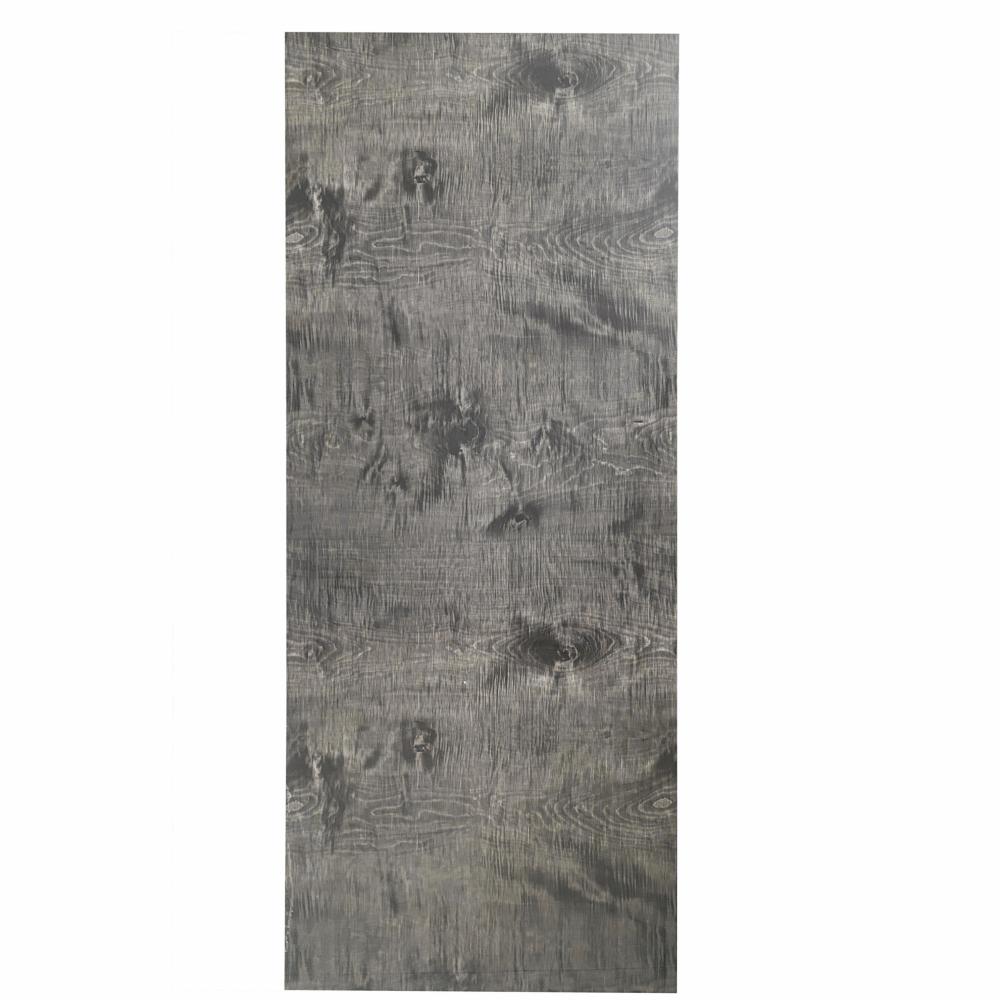 WELLINGTAN ประตูยูพีวีซี บานทึบ (เงา) ขนาด 80x200ซม. GRAY MAPLE  UPVC-SD07 เทา