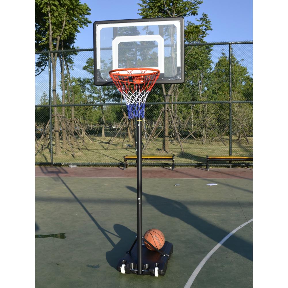 4TEM แป้นบาสเกตบอลตั้งพื้น 32นิ้ว  ปรับความสูงได้ 1.6-2.1เมตร BKT002 สีดำ