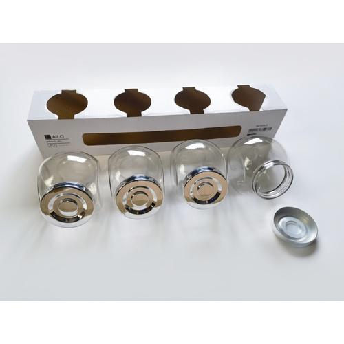 AILO ชุดโหลแก้ว 4 ชิ้น 480 มล. BOSIKA