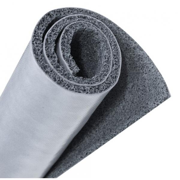 GRAFFE พรมดักฝุ่น PVC  พื้นหลังเรียบ  ขนาด 122*300*1.2 ซม.  สีเทา