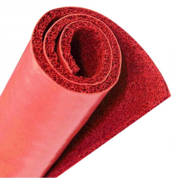 GRAFFE พรมดักฝุ่น PVC  พื้นหลังเรียบ  ขนาด 122*600*1.2 ซม.  สีแดง