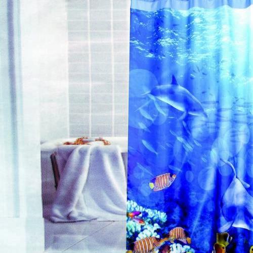 PRIMO ผ้าม่านห้องน้ำ (Polyester)  รุ่น 23322 ลาย ใบไม้แดงดำ