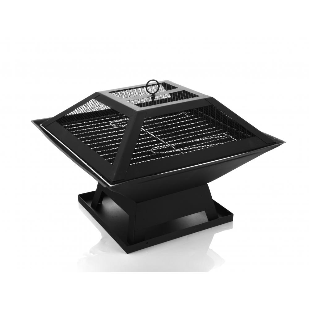 Sane เตาปิ้งย่างบาร์บีคิว ขนาด 46.5x46.5x37cm  Finegrill-BK สีดำ