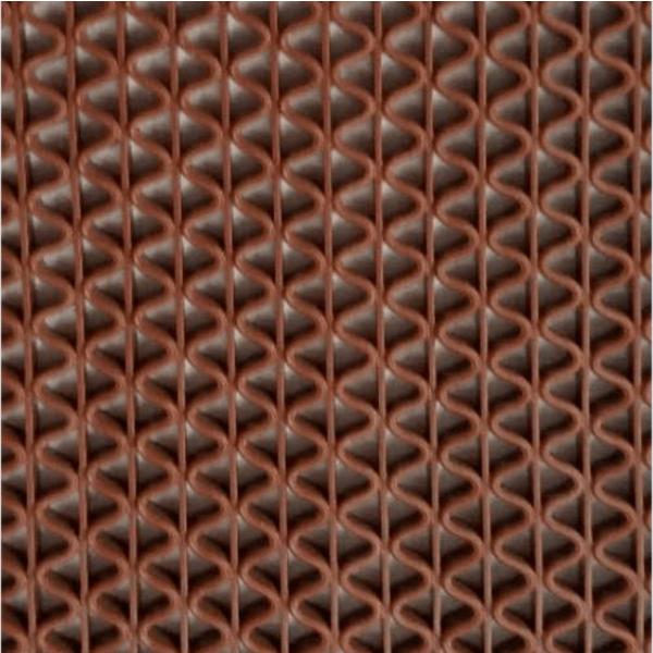 GRAFFE พรมกันลื่นพีวีซี ขนาด 90x150ซม. หนา 0.45ซม. FMS7000–615RD  สีน้ำตาล
