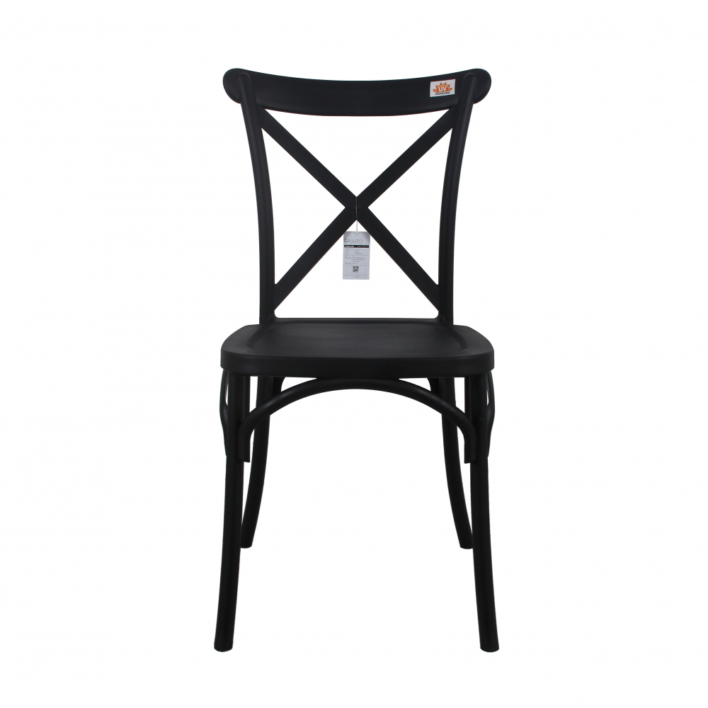 Pulito เก้าอี้จัดเลี้ยง  ขนาด 54.6x48.8x90.5ซม. PP-713-B03 สีดำ