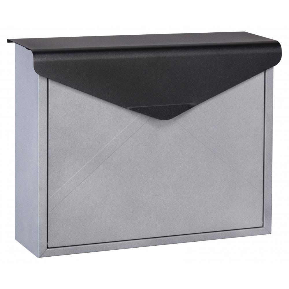 HATO ตู้จดหมาย  W1603 สีดำ-เงิน สีดำ