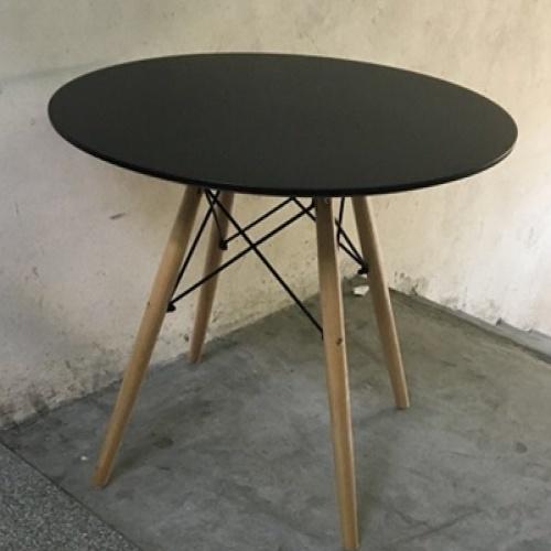 Pulito โต๊ะกลางหน้ากลม ขนาด 70x70x72 ซม. T-02 สีดำ