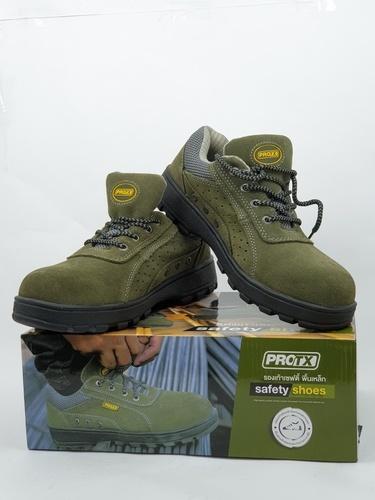 Protx รองเท้าเซฟตี้ #45 พื้น PU  BA-128 สีเขียว