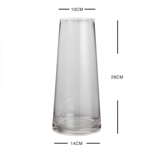 COZY แจกันแก้ว ขนาด 14x28 ซม. Lucent-L สีใส