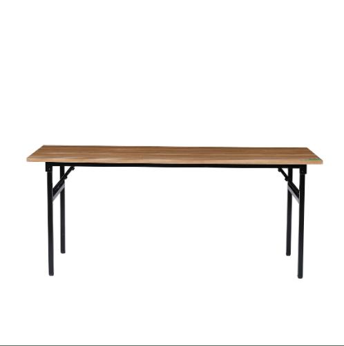 TABIO โต๊ะพับอเนกประสงค์ ลายไม้ ( D-wooden) ขนาด 75 x73x180 cm S-18075D.W